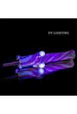 """5"""" Glass Dab Straw with Titanium Insert UV V2 (C) by Kitchen Glass"""