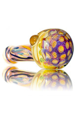 """4"""" Glass Dry Pipe Inside Out Lined Fume (D) Honeycomb Cap by EKG Glass"""