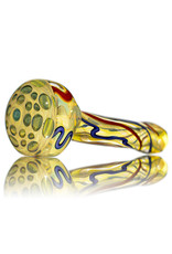 """5"""" Glass Dry Pipe Inside Out Lined Fume (E) Honeycomb Cap by EKG Glass"""
