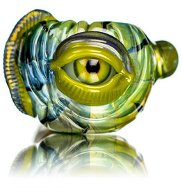 "Pubz Glass 5"" Glass Dry Pipe Pubz Crawlerz Eye Pipe (G) by Pubz Glass"