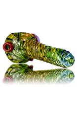 """Pubz Glass 5"""" Glass Dry Pipe Pubz Crawlerz Eye Pipe (J) by Pubz Glass"""