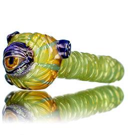 """Pubz Glass 5"""" Glass Dry Pipe Pubz Crawlerz Eye Pipe (K) by Pubz Glass"""