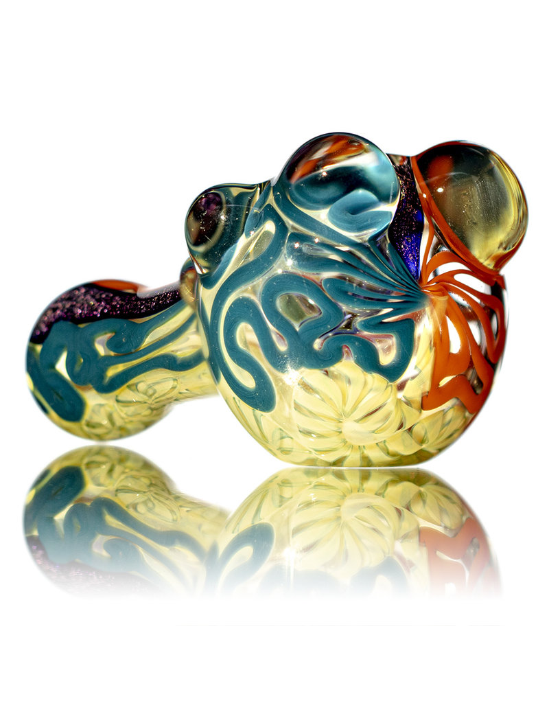"""4"""" Glass Dry Pipe Fully Worked Dichro Inside Out i by GFL Glass"""