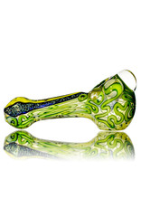 """4"""" Glass Dry Pipe Fully Worked Dichro Inside Out J by GFL Glass"""