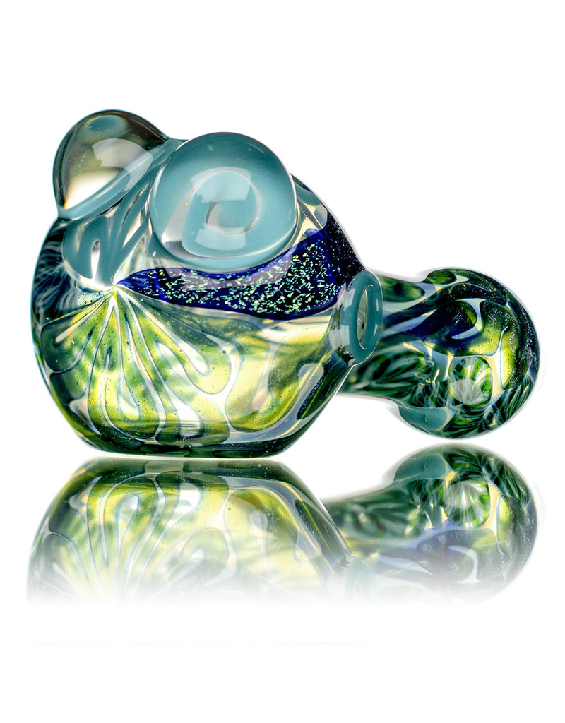 """4"""" Glass Dry Pipe Fully Worked Dichro Inside Out K by GFL Glass"""