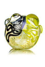 """4"""" Glass Dry Pipe Fully Worked Dichro Inside Out L by GFL Glass"""