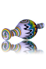 25mm Fully Worked Reversal Bubble Carb Cap by AB Glass (B)