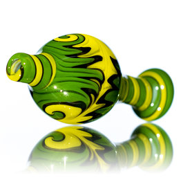 25mm Fully Worked Reversal Bubble Carb Cap by AB Glass (C)