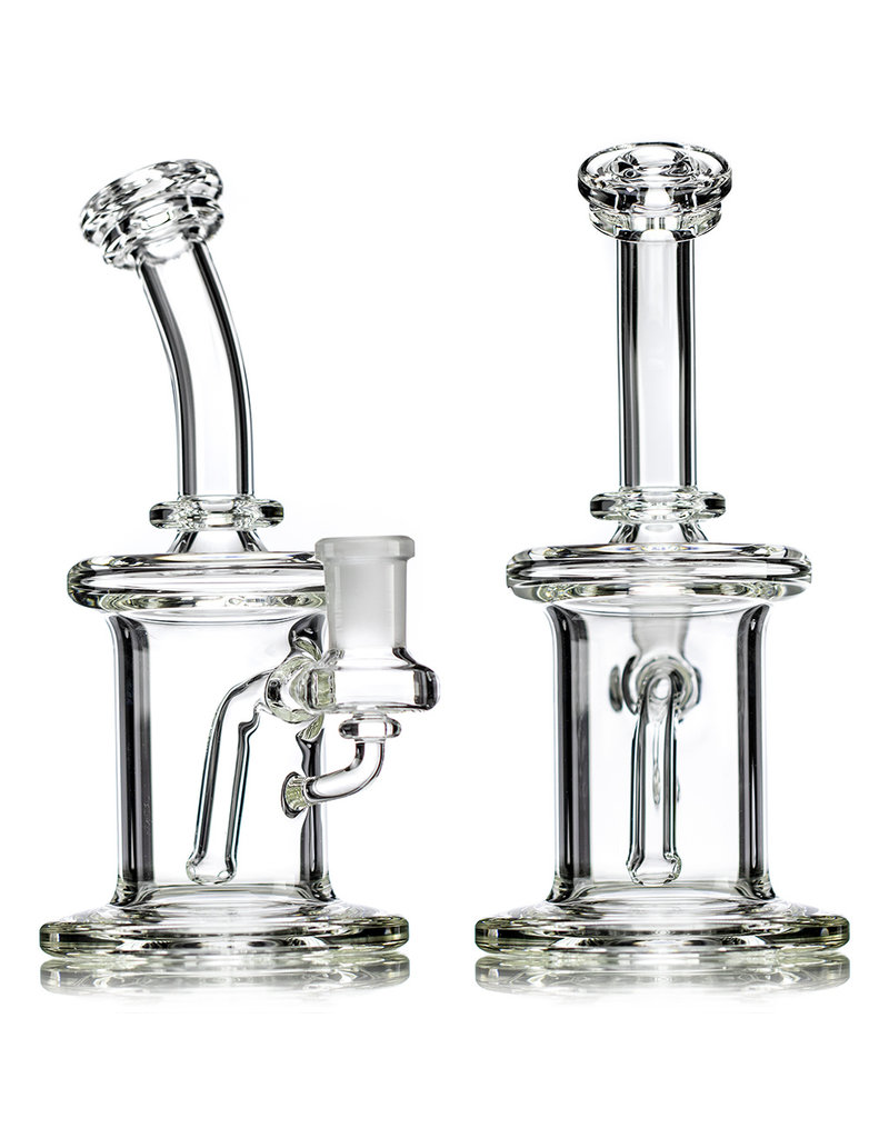 "14mm 7"" Dab Rig CLEAR Banger Hanger by GLX Glass"