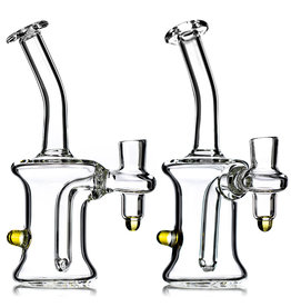 "14mm 7"" Dab Rig CLEAR Banger Hanger with Accent by TH Glass"