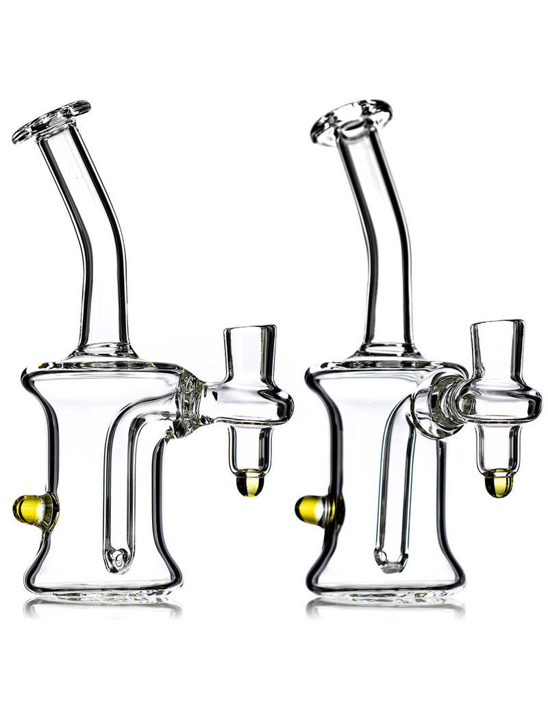 """14mm 7"""" Dab Rig CLEAR Banger Hanger with Accent by TH Glass"""