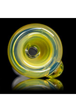 """9"""" Silver Fume Accented Mini Tube Bong with Downstem and Slide by Horny Glass"""
