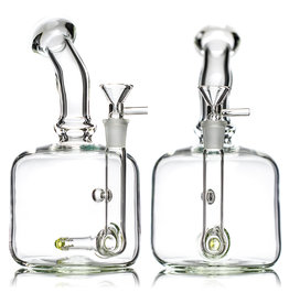 "9"" 14mm Color Accented Oversized Inline Jammer with Matching Slide by SOLID Glass"