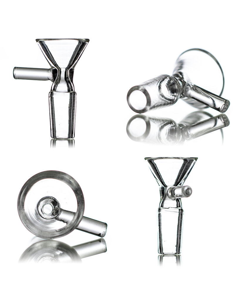 """9"""" 14mm Color Accented Oversized Inline Jammer with Matching Slide by SOLID Glass"""