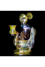 """Evan Cals 7"""" 14mm Fumed Spiral Drain Recycler Dab Rig (E) by Evan Cals"""