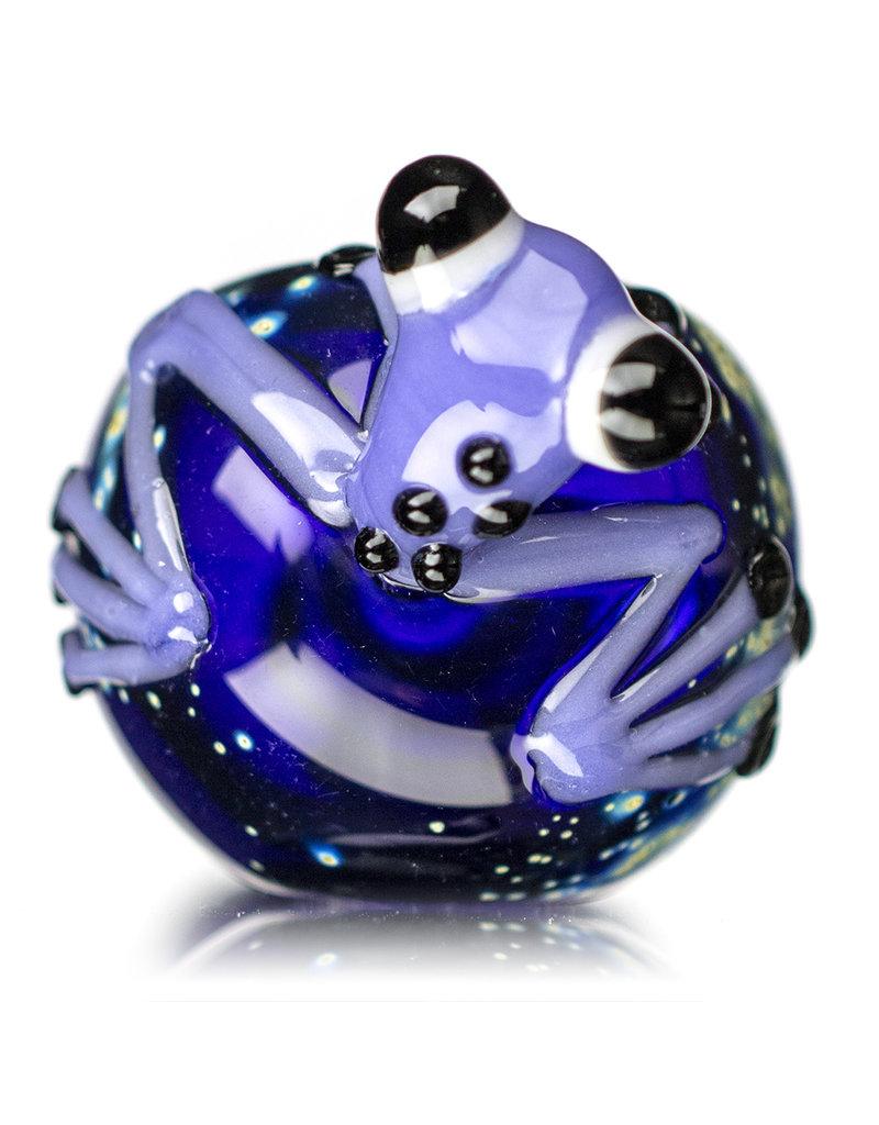 "Jeff Lamy 5"" Glass Dry Pipe Critter Galaxy Frog Pipe (E) by Jeff Lamy"