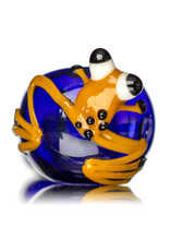 """Jeff Lamy 5"""" Glass Dry Pipe Critter Galaxy Frog Pipe (G) by Jeff Lamy"""