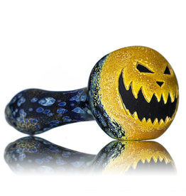 """Stone Tech Glass 4"""" Glass Dry Pipe Doctober Themed Pumpkin (X) by Stonetech x Witch DR"""