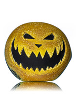 "Stone Tech Glass 4"" Glass Dry Pipe Doctober Themed Pumpkin (X) by Stonetech x Witch DR"