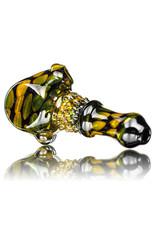 "Koy Glass 4"" Glass Pipe Black Fume Princess by Koy Glass"