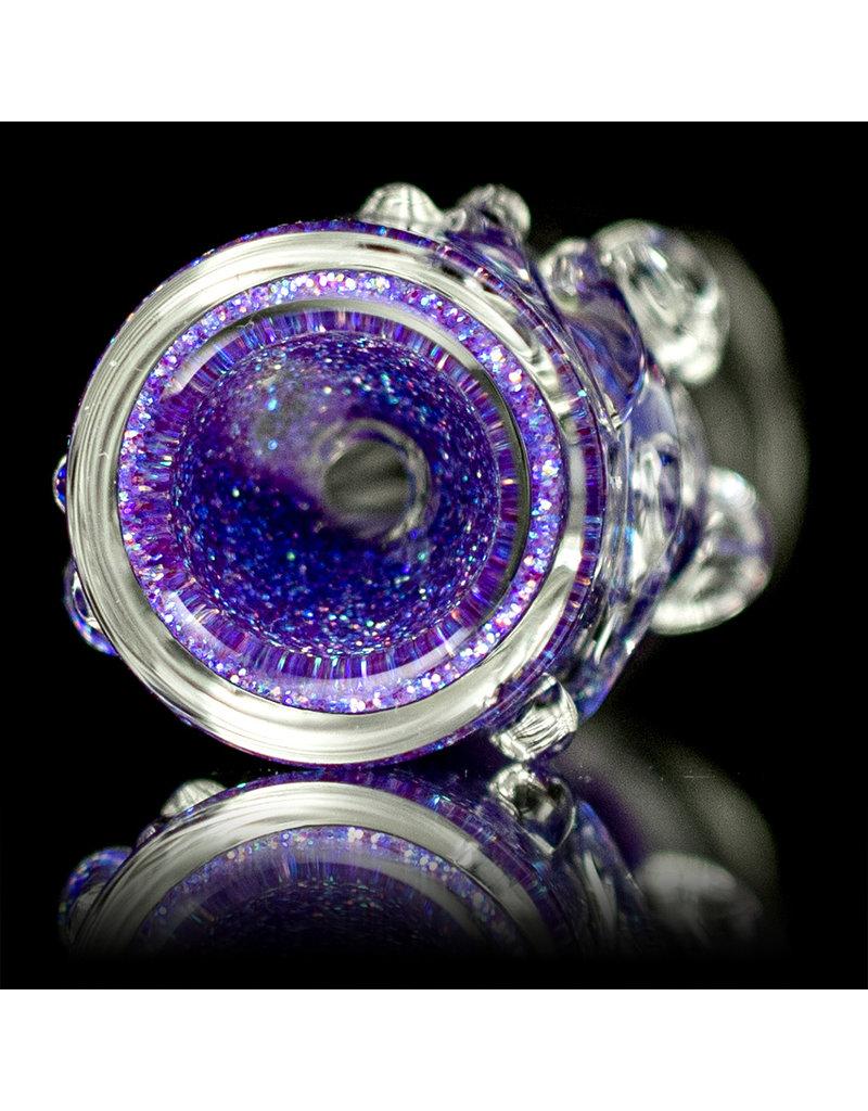 "3"" Purple Glitter Glass Chillum Onie by Hitide Glassworks"