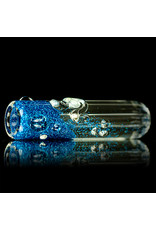 "3"" Blue Glitter Glass Chillum Onie by Hitide Glassworks"