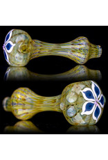 "4"" Glass Dry Pipe Pinwheel Flower Spoon by Cherry City Glass (E)"