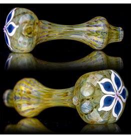 "4"" Glass Dry Pipe Pinwheel Flower Spoon by Cherry City Glass (E)"