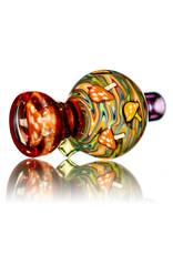 Fidget Glass 25mm UV Mushroom Millie Multi Section Bubblecap and Matching Bead Set by Fidget Glass (L)