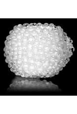 "5"" White Jumbo Bling Bowl by Drs Glass"