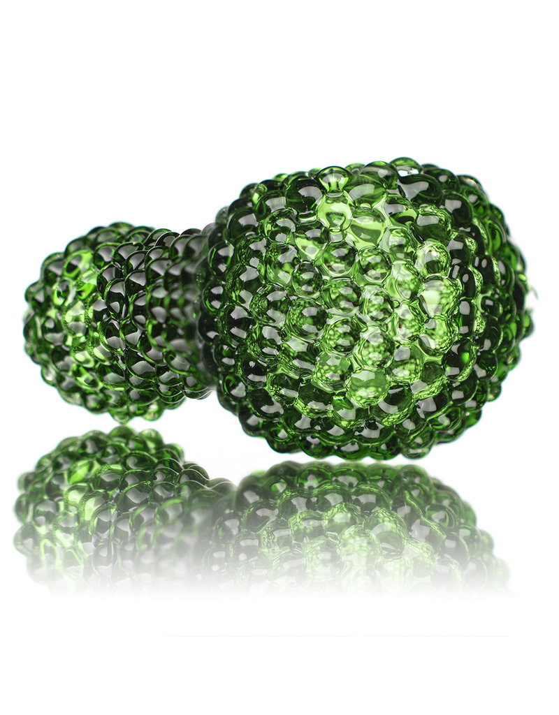 "5""Dark Green Jumbo Bling Bowl by Drs Glass"