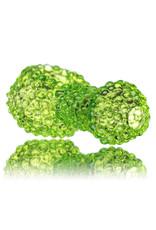 """5"""" Green Slime Jumbo Bling Bowl by Drs Glass"""