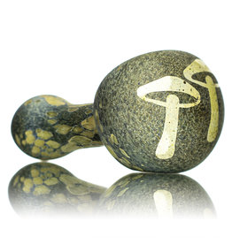 """Stone Tech Glass 4"""" Glass Pipe DRY Frosted Etched Glass Fossil Pipe (N) by Stone Tech Glass"""