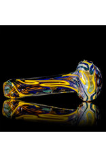 """5"""" Glass Dry Pipe Inside Out Lined Fume (H) Honeycomb Cap by EKG Glass"""