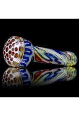 """5"""" Glass Dry Pipe Inside Out Lined Fume (i) Honeycomb Cap by EKG Glass"""
