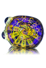 """Inner Vision Glass 5"""" Glass Pipe Wrap and Rake Fume over Cobalt by Inner Vision A"""