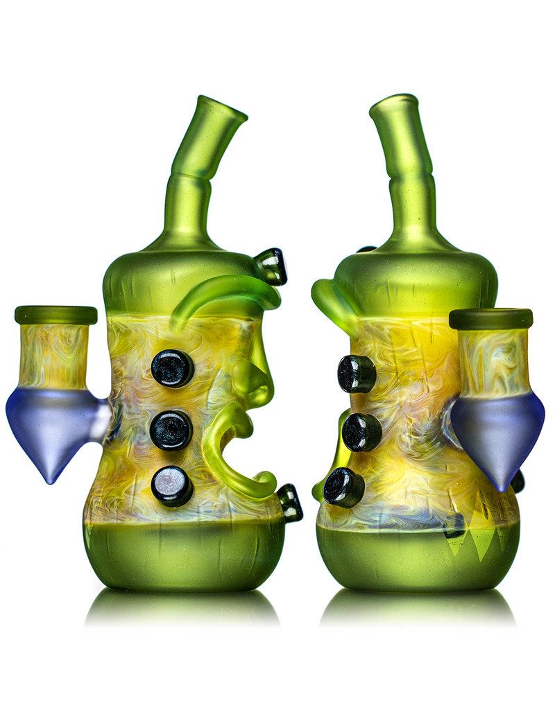 "Don Chile Ortega 6"" Glass 14mm 90 Green & Fume Chaos Tiki Rig Don Chile"