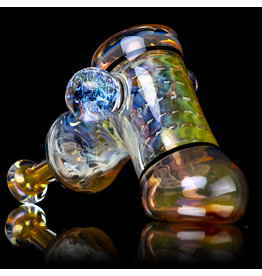 "5"" Glass Dry Pipe (H) Cut n Flip Fume Hammer w / Pink Slyme Encalmo by Sully Reynolds"