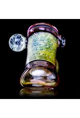 "5"" Glass Dry Pipe (J) Cut n Flip Fume Hammer w / Pink Slyme Encalmo by Sully Reynolds"