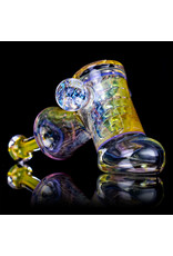"5"" Glass Dry Pipe (K) Cut n Flip Fume Hammer w / Pink Slyme Encalmo by Sully Reynolds"