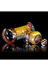 "5"" Glass Dry Pipe (L) Cut n Flip Fume Hammer w / Pink Slyme Encalmo by Sully Reynolds"