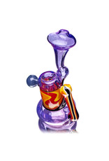 """6"""" Fully Worked Snorkel Upright Push Bubbler (A) by Weight Glass"""