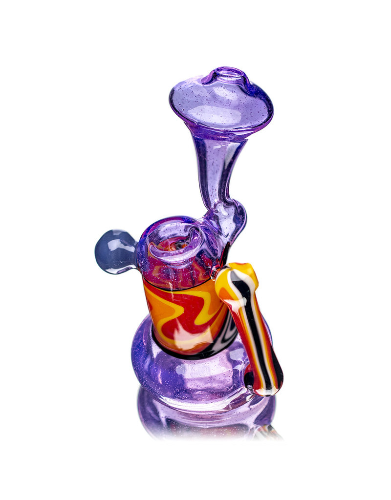 "6"" Fully Worked Snorkel Upright Push Bubbler (A) by Weight Glass"
