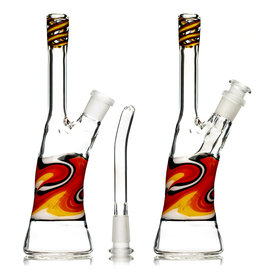 "9"" 14mm 45 Dichro Linework Color Tube (A) with Removable Downstem by Weight Glass"