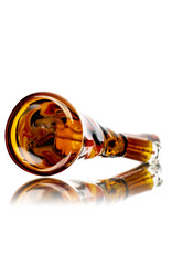 """9"""" 10mm 45 Dichro Linework Color Tube (C) with Removable Downstem"""