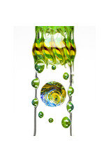 """16"""" 14mm Full Color Glass Beaker Bubble Bong (A) by Ed Wolfe"""