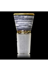 Witch DR 18mm Glass Bong Bowl Slide Polished Engelmann Betula Birch Horned Slide by Witch DR
