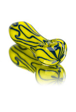 """4"""" Glass Dry Pipe Inside Out Squiggles Pipe (A) by Cali Glass"""