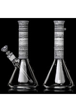 """Witch DR FF4.30 10"""" 10mm Full Birch Spiral Beaker Bong with Downstem and Slide C by Witch DR Studio"""