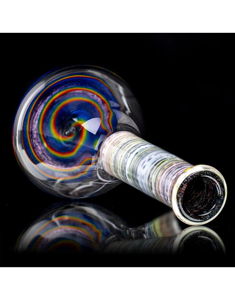 "Witch DR FF5.28 10mm 9"" Rainbow Birch Beaker Spiral Base 1."
